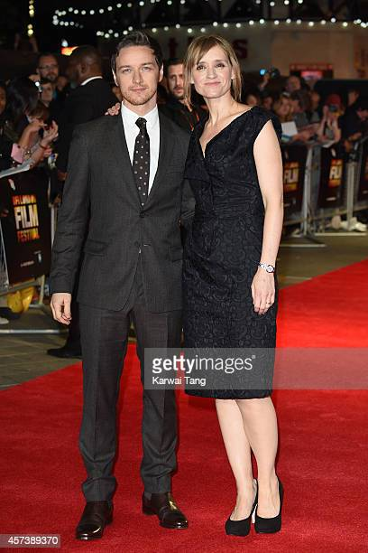 James McAvoy and AnneMarie Duff attend a screening of The Disappearance Of Eleanor Rigby during the 58th BFI London Film Festival at Odeon West End...