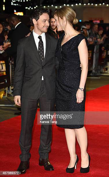 James McAvoy and AnneMarie Duff attend a screening of 'The Disappearance Of Eleanor Rigby' during the 58th BFI London Film Festival at Odeon West End...