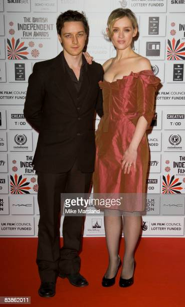 James McAvoy and AnneMarie Duff attend The British Independent Film Awards 2008 at the Old Billingsgate Market on November 30 2008 in London England
