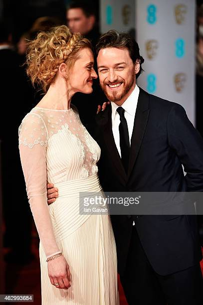James McAvoy and AnneMarie Duff attend the EE British Academy Film Awards at The Royal Opera House on February 8 2015 in London England