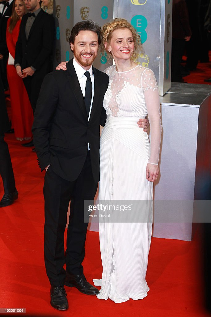 James McAvoy and Anne-Marie Duff attend the EE British Academy Film Awards at The Royal Opera House on February 8, 2015 in London, England.