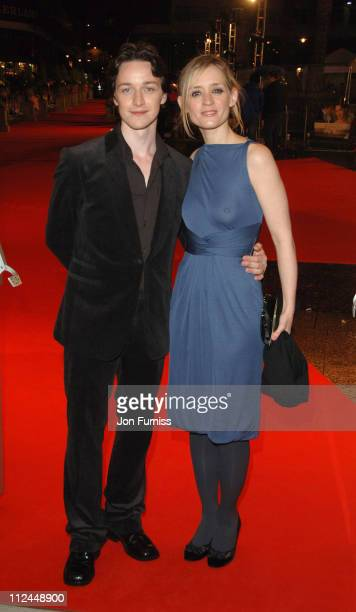 James McAvoy and AnneMarie Duff during 'Becoming Jane' London Premiere Inside Arrivals at Odeon Westend in London Great Britain