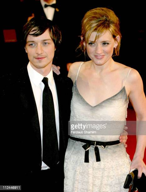 James McAvoy and AnneMarie Duff during The Orange British Academy Film Awards 2006 Outside Arrivals at Odeon Leicester Square in London Great Britain