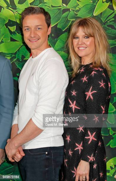 James McAvoy and Ashley Jensen attend the Family Gala Screening of Sherlock Gnomes hosted by Sir Elton John and David Furnish at Cineworld Leicester...
