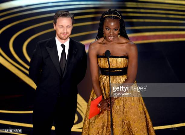 James McAvoy and Danai Gurira speak onstage during the 91st Annual Academy Awards at Dolby Theatre on February 24 2019 in Hollywood California