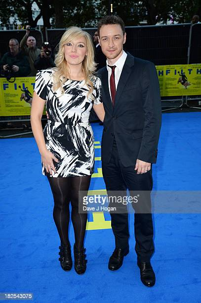 James McAvoy and Joy McAvoy attend the London premiere of 'Filth' at The Odeon Leicester Square on September 30 2013 in London England