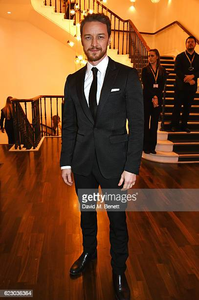 James McAvoy attends a cocktail reception at The 62nd London Evening Standard Theatre Awards recognising excellence from across the world of theatre...