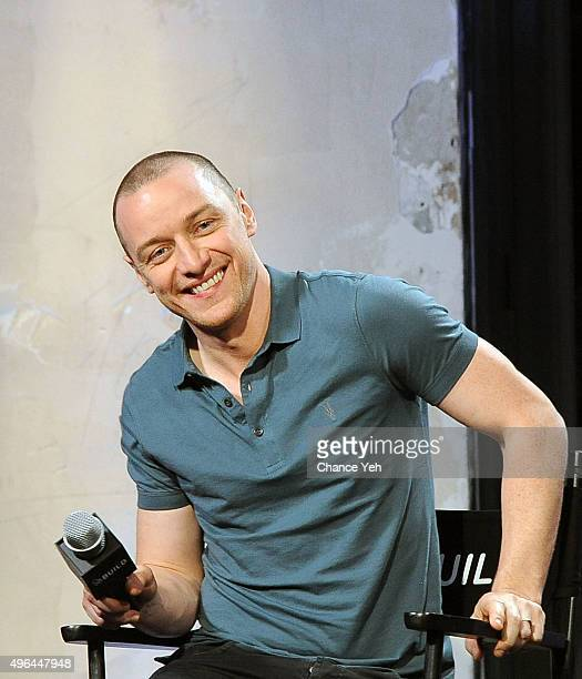 James McAvoy attends AOL BUILD Speaker Series 'Victor Frankenstein' at AOL Studios In New York on November 9 2015 in New York City