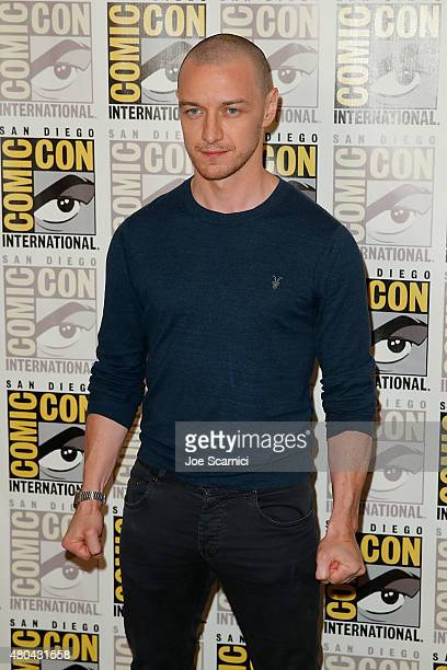 James McAvoy attends the 20'th Century Fox Press Line at ComicCon International 2015 Day 3 on July 11 2015 in San Diego California