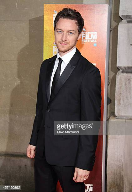 James McAvoy attends the 58th BFI London Film Festival Awards at on October 18 2014 in London England