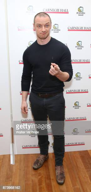 James McAvoy attends The Children's Monologues at Carnegie Hall on November 13 2017 in New York City