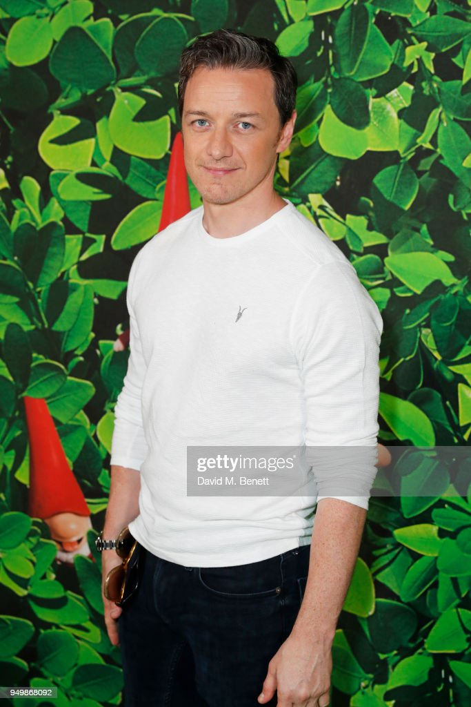 James McAvoy attends the Family Gala Screening of 'Sherlock Gnomes' hosted by Sir Elton John and David Furnish at Cineworld Leicester Square on April 22, 2018 in London, England.