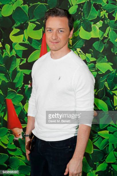 James McAvoy attends the Family Gala Screening of Sherlock Gnomes hosted by Sir Elton John and David Furnish at Cineworld Leicester Square on April...