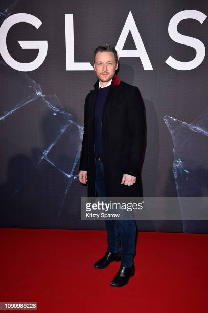 """James McAvoy attends the """"Glass"""" Paris Gala Screening at la Cinematheque Francaise on January 07 2019 in Paris France"""
