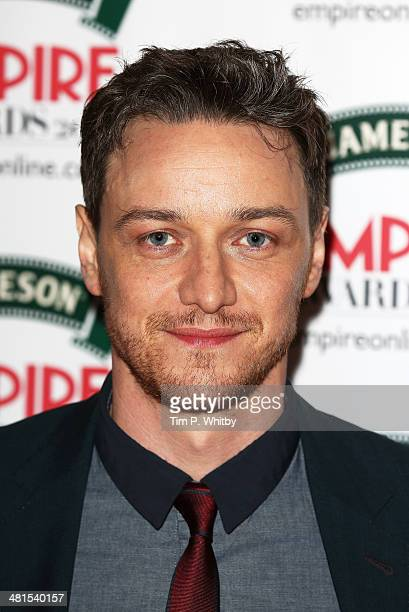 James McAvoy attends the Jameson Empire Awards 2014 at the Grosvenor House Hotel on March 30 2014 in London England Regarded as a relaxed end to the...