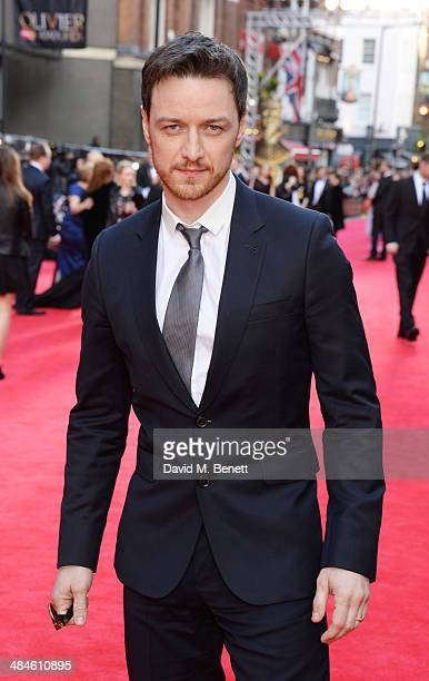 James McAvoy attends the Laurence Olivier Awards at The Royal Opera House on April 13 2014 in London England