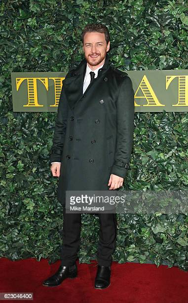 James McAvoy attends The London Evening Standard Theatre Awards at The Old Vic Theatre on November 13 2016 in London England