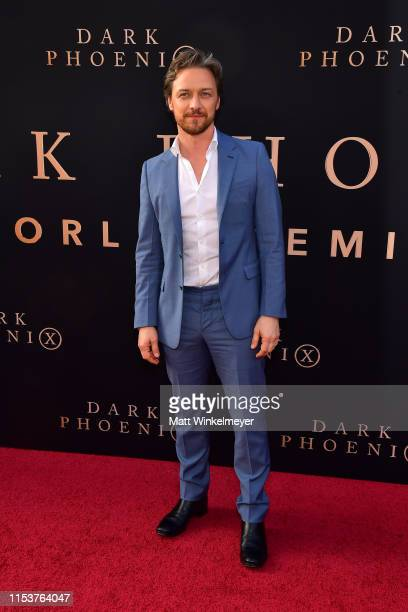 """James McAvoy attends the premiere of 20th Century Fox's """"Dark Phoenix"""" at TCL Chinese Theatre on June 04, 2019 in Hollywood, California."""