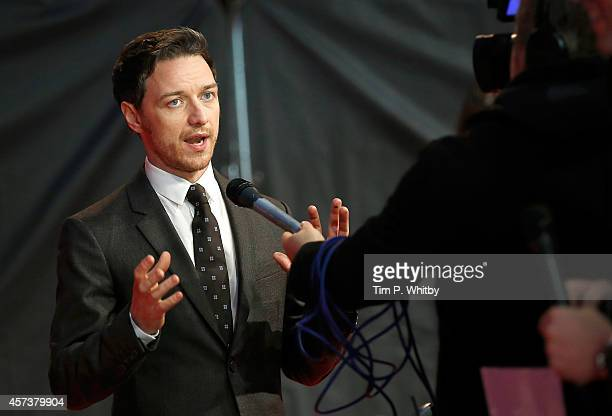 James McAvoy attends the red carpet arrivals of 'The Disappearance Of Eleanor Rigby' during the 58th BFI London Film Festival at Odeon West End on...
