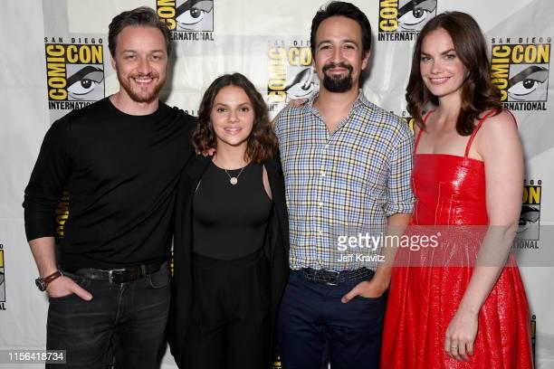 James McAvoy Dafne Keen LinManuel Miranda and Ruth Wilson at His Dark Materials Comic Con Autograph Signing 2019 at the 50th San Diego Comic Con...