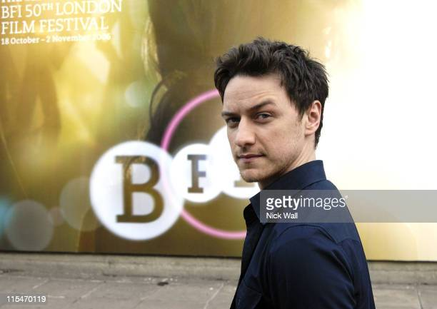 James McAvoy during The Times BFI London Film Festival 2006 James McAvoy Photocall at London in London Great Britain