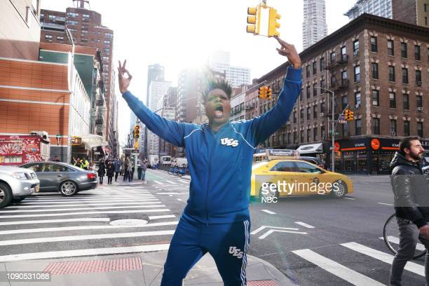 LIVE 'James McAvoy' Episode 1757 Pictured Leslie Jones during 'The UES' sketch on Saturday January 26 2019