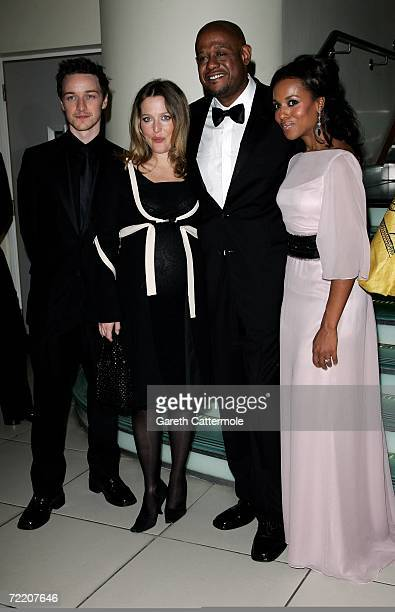 James McAvoy Gillian Anderson Forest Whitaker and Kerry Washington arrive at the UK Premiere of The Last King Of Scotland during the opening gala of...