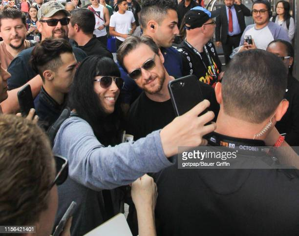 James McAvoy is seen on July 18, 2019 in San Diego, California.