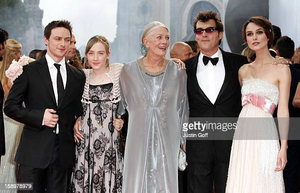 James Mcavoy Saoirse Ronan Vanessa Redgrave Director Joe Wright Keira Knightley Attend The Opening Ceremony The 'Atonement' Premiere At The 64Th...