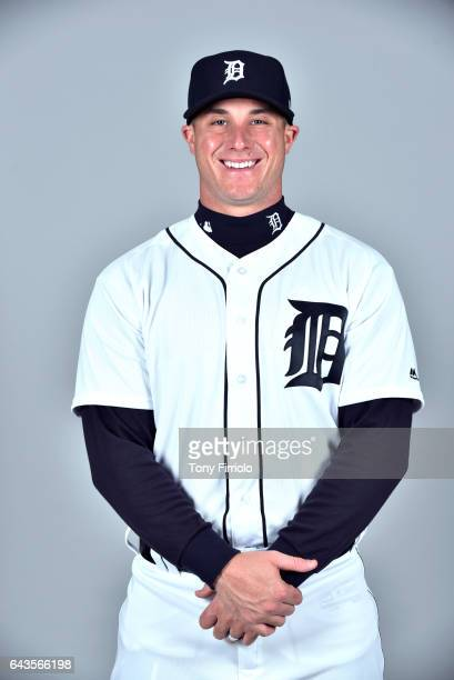 James McCann of the Detroit Tigers poses during Photo Day on Sunday February 19 2017 at Publix Field at Joker Marchant Stadium in Lakeland Florida