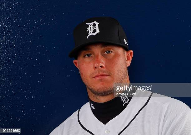 James McCann of the Detroit Tigers poses for a photo during photo days on February 20 2018 in Lakeland Florida