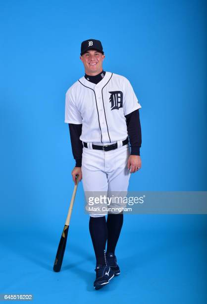 James McCann of the Detroit Tigers poses for a portrait during Photo Day on Sunday February 19 2017 at Publix Field at Joker Marchant Stadium in...