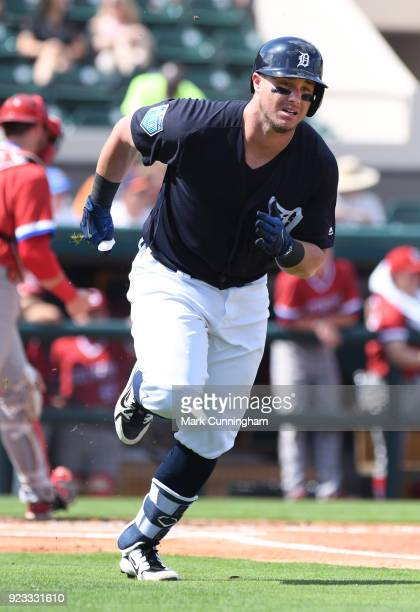 James McCann of the Detroit Tigers runs the bases during the Spring Training game against the Florida Southern Mocs at Publix Field at Joker Marchant...