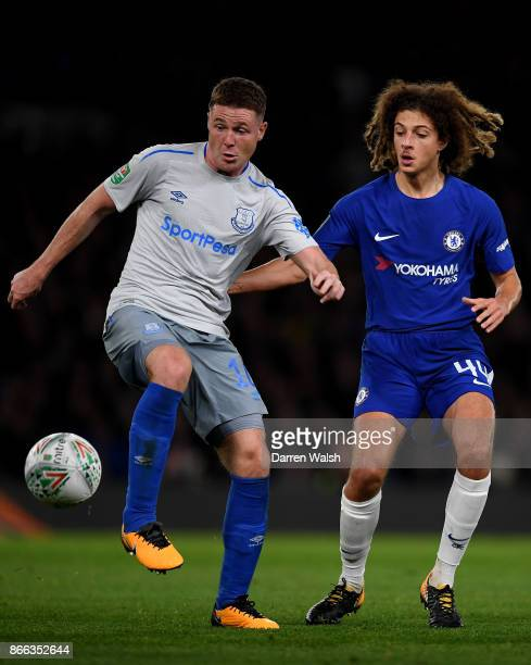 James McCarthy of Everton and Ethan Ampadu of Chelsea in action during the Carabao Cup Fourth Round match between Chelsea and Everton at Stamford...