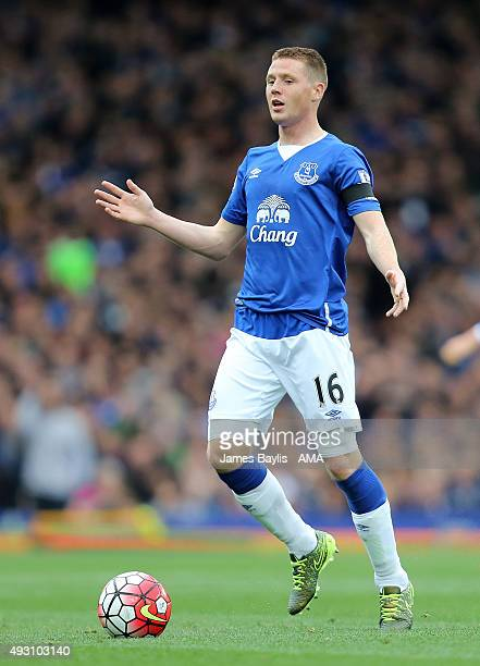 James McCarthy of Everton during the Barclays Premier League match between Everton and Manchester United at Goodison Park on October 17 2015 in...