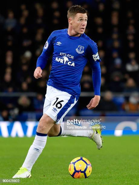 James McCarthy of Everton during the Premier League match between Everton and Manchester United at Goodison Park on January 1 2018 in Liverpool...