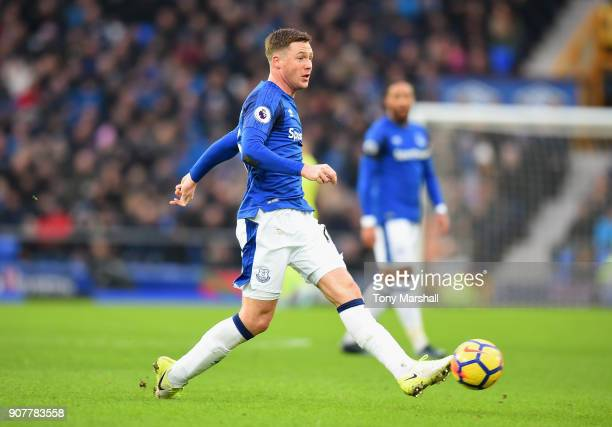 James McCarthy of Everton during the Premier League match between Everton and West Bromwich Albion at Goodison Park on January 20 2018 in Liverpool...