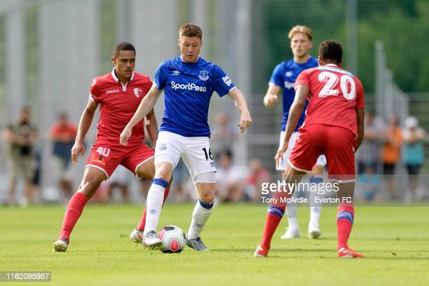James McCarthy of Everton during the pre-season match between FC Sion and Everton on July 14, 2019 in Le Chable, Switzerland.