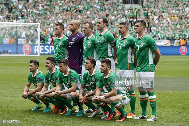 James McCarthy of Ireland goalkeeper Darren Randolph of Ireland Glenn Whelan of Ireland Johnn O Shea of Ireland Jonathan Walters of Ireland Ciaran...