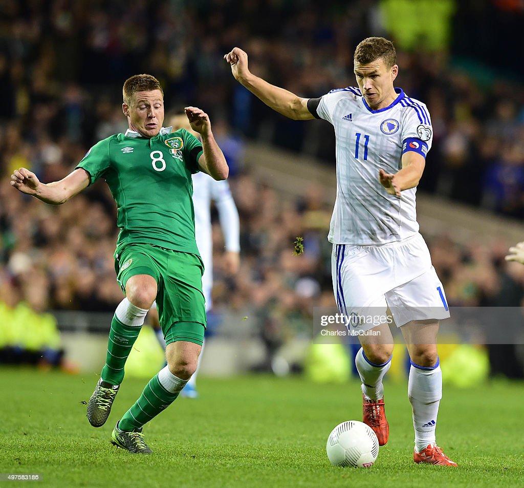 Republic of Ireland v Bosnia and Herzegovina - UEFA EURO 2016 Qualifier: Play-Off Second Leg : News Photo