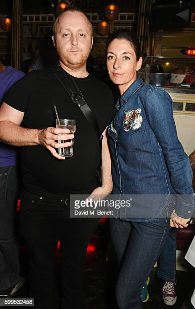 James McCartney and Mary McCartney attend the launch of Issues a new album by SSHH in aid of Teenage Cancer Trust at The Box on September 5 2016 in...