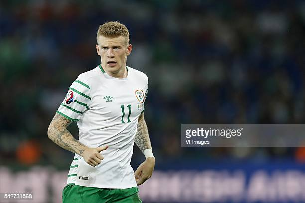 James McClean of Ireland during the UEFA EURO 2016 Group E group stage match between Italy v Ireland at the Stade PierreMauroy on june 22 2016 in...