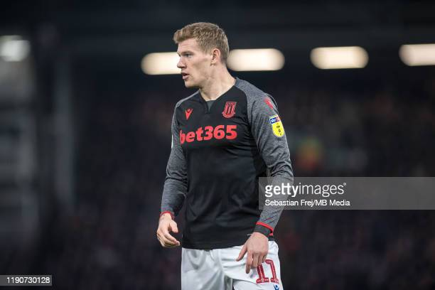 James McClean of Stoke City during the Sky Bet Championship match between Fulham and Stoke City at Craven Cottage on December 29, 2019 in London,...