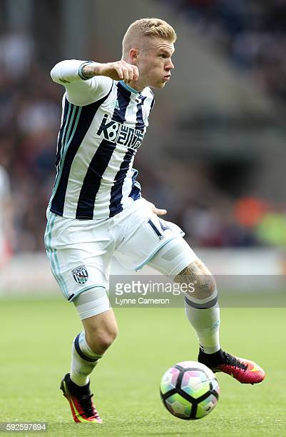 James McClean of West Bromwich Albion during the Premier League match between West Bromwich Albion and Everton at The Hawthorns on August 20 2016 in...