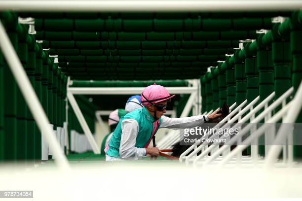 James McDonald on Mirage Dancer awaits to start The Wolferton Stakes on day 1 of Royal Ascot at Ascot Racecourse on June 19 2018 in Ascot England