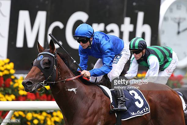 James McDonald rides Federal to win race 2 The McGrath Estate Agents South Pacific Classic during The Championships at Royal Randwick Racecourse on...