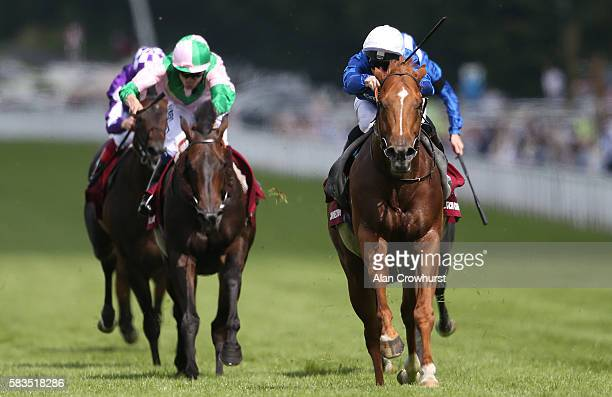 James McDonald riding Dutch Connection win The Qatar Lennox Stakes at Goodwood on July 26 2016 in Chichester England