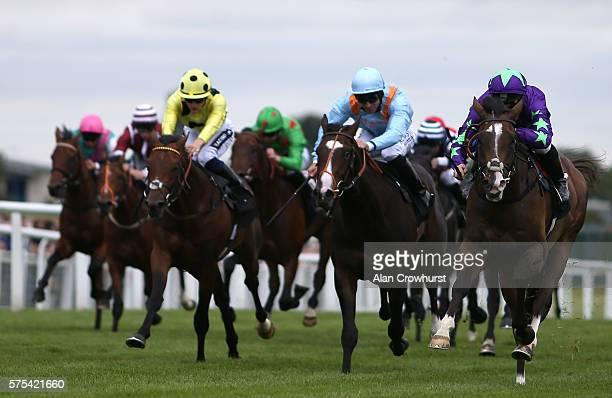James McDonald riding Escobar at Newbury Racecourse on July 15 2016 in Newbury England
