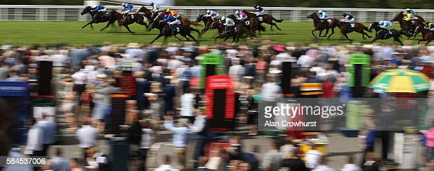 James McDonald riding Final Reckoning win The Betfred Supports Jack Berry House Nursery Stakes at Goodwood on July 29 2016 in Chichester England