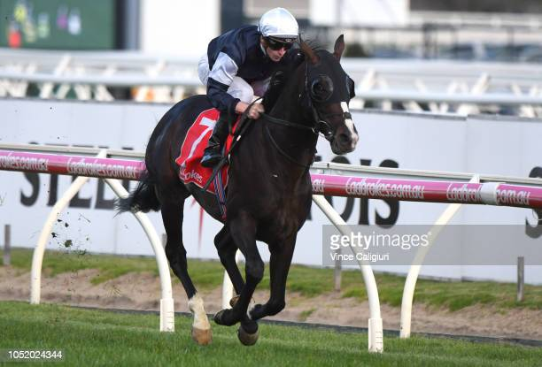 James McDonald riding Yucatan wins Race 10 Ladbrokes Herbert Power Stakes during Melbourne Racing at Caulfield Racecourse on October 13 2018 in...